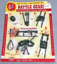 VINTAGE 1960's GI BATTLE GEAR SET 6 In FIGURE ACCESSORIES SEALED GAY TOYS SCARCE
