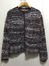 360 Sweater Nelva M Chunky Boucle Jacket Cardigan Sweater coat Stripe wool blend
