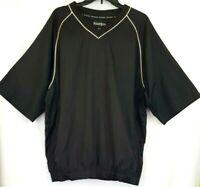 FootJoy Mens Golf Wind Rain Shirt Size Large Pull Over Top V Neck Black White