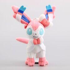 New Pokemon Eevee Standing Sylveon Plush Doll Toy Stuffed Animals Kids Gift