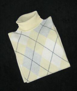 100% Kaschmir Cashmere Damen Rollkragenpullover gelb beige grau S/M 38 Neuwertig