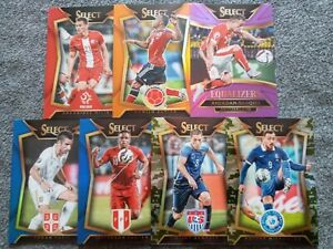 2015-16 PANINI SELECT SOCCER 7 CARD NUMBERED BASE/INSERT PRIZMS LOT