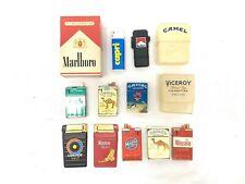Vintage Modern Cigarette Promo Lot of 12; Cases Lighters - Camel Marlboro + More