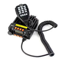 Dual Band Mobile Coche Walkie Talkies UHF+VHF 25W Cigarette Lighter Plug Bracket