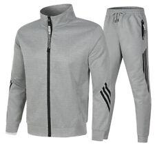 Herren Casual 2 Stück Sport Trainingsanzug Hosen Kapuzenjacke Aktivkleidung Set