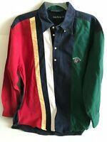 Vintage Nautica Men's Sails Sports Long Sleeve Color Block Pullover Size XL