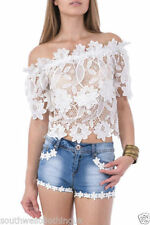 Denim Floral Mid Rise Shorts for Women