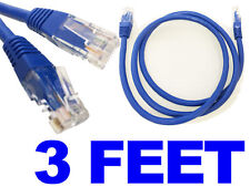 Network CAT6 Cable 3ft feet - LAN Ethernet Cable RJ45 Patch Cord Blue US SELLER