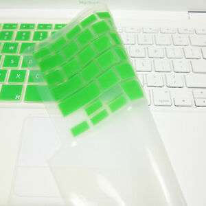 """FULL GREEN  Silicone Keyboard Skin Cover  for Old Macbook White 13"""" (A1181)"""