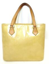 Auth LOUIS VUITTON Vernis Leather Houston Yellow Tote handbag Shoulder Bag