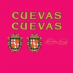 Cuevas Bicycle Frame Stickers - Decals, n.100