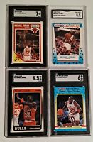 1988 - 1989 Michael Jordan 6 thru 8.5 Fleer LOT of (4) #17 NM- MINT  psa comp