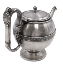 American Coin Silver Tea/Coffee Pot with Medallion by Frankfield