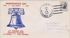 (USO-63) 1967 USA 5c independence Day cover used (63BK)
