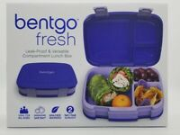 Brand New Bentgo Fresh(Blue/Purple) Leak Proof Lunch Box BPA Free 4 Compartment