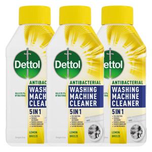 3 X Dettol 5-in-1 Antibacterial Washing Machine Cleaner Lemon Breeze - 250ML