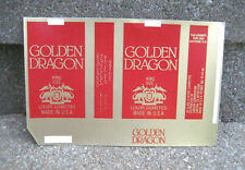 Vintage Golden Dragon Cigarette Tobacco Packaging Label