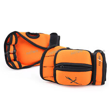 MaxxMMA Adjustable Weighted Gloves (Orange) - Removable Weight 1 lb.each  x 2