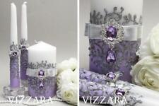 Unity candle sets Lavender wedding Wedding unity candle set Lavender and silver