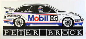 Brock 05 Mobil 1 Racing Memorabilia Sticker Decal Ford Sierra Peter Brock