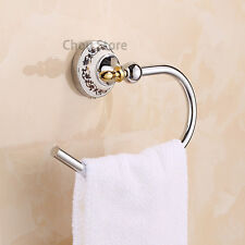 Chrome Brass Bathroom Accessory Towel Ring Hanger Wall Mount Round Towel Rack