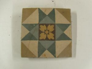 historische Zementfliesen, Bodenfliesen um 1900 Bergezustand