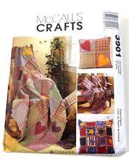 McCalls 3901 Rag Throws & Pillow Sewing Craft Pattern