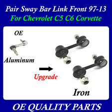 Pair with 4 nut Stabilizer Sway Bar Link Front 97-13 for Corvette C5 C6 20822934