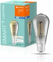 LEDVANCE LED Lamp E27 Warm White 2700 K 6 W = 44W SMART Filament Edison Dimmable