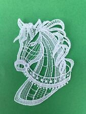 Animals - Horse Head - sew-on lace motif/applique/patch/craft/card making