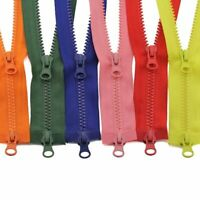 Zipper Double Sliders Plastic Resin Colorful Clothes Garment 80/90/100/120/150cm