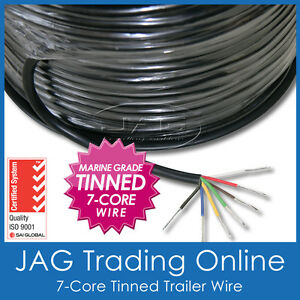 7-CORE MARINE GRADE TINNED WIRE - AUTOMOTIVE/BOAT/CARAVAN/RV ELECTRICAL CABLE