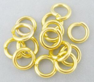 Extra Strong Jump Rings 100 x GOLD Plated 1.5mm Thick 8mm,10mm,12mm,14mm, 16mm