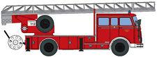 Maquette de voiture H0 Heico HC2015: Pompier Véhicule échelle plateau tournant