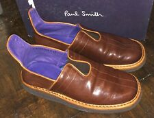 Paul Smith Vistula Tobacco Nappa brown leather men's shoes UK 7 new