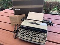 Vintage Smith Corona Super Correct Electric Typewriter Model 6E MINTY Paper Work