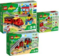 LEGO Duplo 10874 10872 10882 Dampflok Eisenbahn Brücke Schienen Set N9/18