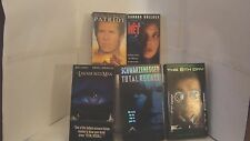 lot of 5 vhs tapes The Net.Total Recall.The lawnmower man.The patriot,The 6 day