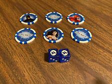 Heroclix DC Justice League Dice and Token Batman Superman Wonder Woman Flash