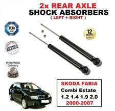 2x REAR SHOCK ABSORBERS for SKODA FABIA Combi Estate 1.2 1.4 1.9 2.0 2000-2007