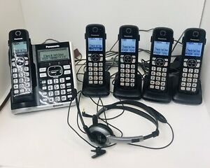 Panasonic KX-TGF570 Base & 5 KX-TGFA51 Handsets Phone Voicemail Answering System