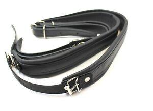 Accordion Genuine Leather Straps Black 4cm