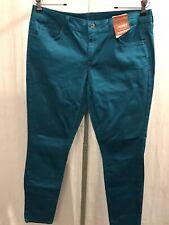 Arizona Jeans Juniors 11 Skinny Pants Teal Stretch Cotton New 191023