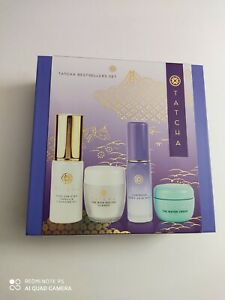 Tatcha Bestsellers Set Cleansing Oil Enzyme Powder Mist Water Cream 4pc Gift