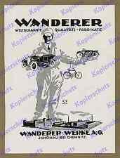 ORIG. la pubblicità escursionisti opere Chemnitz Schönau AUTO MOTO BICICLETTA Sassonia 1925