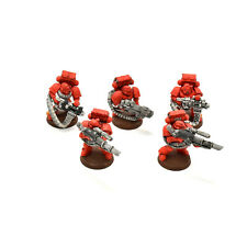 BLOOD ANGELS 5 devastator squad #2 Warhammer 40K no sergeant PAINTED