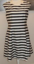 Zara Cotton Blend Casual Striped Dresses for Women