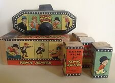 Rare Vintage Komic Kamera with Box, Camera and 4 boxed  rolls of film!