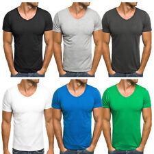 Herren-T-Shirts in Plusgröße Basic-Stil aus Baumwollmischung