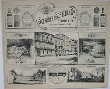 1908 SCHRODER & SCHYLER BORDEAUX WINE HENRY GUILLIER FRENCH PHOTOGRAPHIC VIEWS